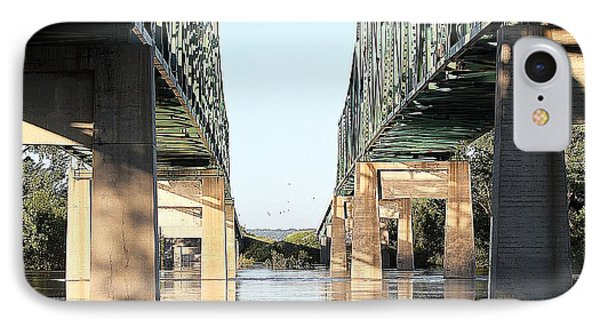 IPhone Case featuring the photograph Twin Bridges by Elizabeth Winter
