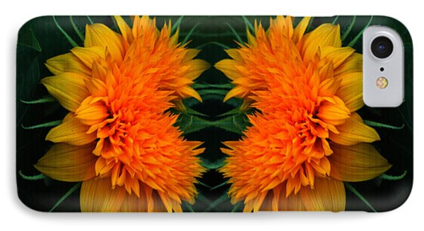 Twin Teddybear Sunflowers IPhone Case by Marjorie Imbeau