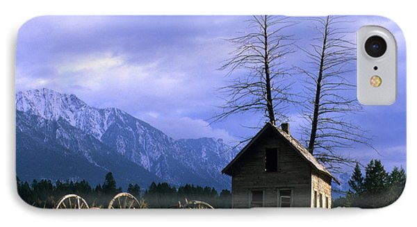 Twin Tree Cabin IPhone Case by Bob Christopher