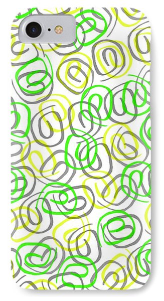 Twirls IPhone Case by Louisa Knight