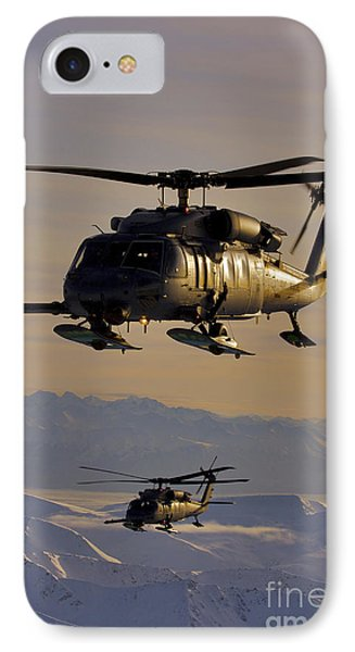 Two Alaska Air National Guard Hh-60g Phone Case by Stocktrek Images