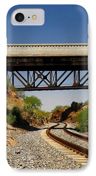 Two Bridges And A Cut IPhone Case by Joe Kozlowski