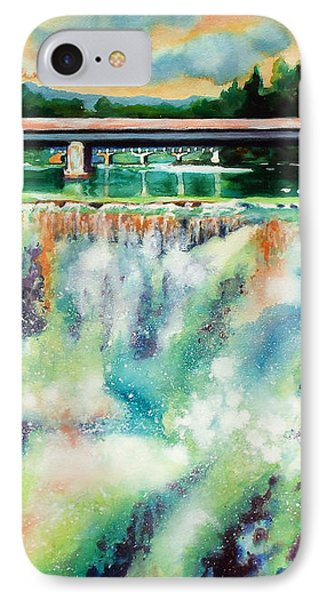 Two Bridges And A Falls 2          IPhone Case by Kathy Braud