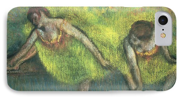 Two Dancers Relaxing Phone Case by Edgar Degas