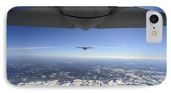 Two Ec-130j Commando Solo Aircraft Fly Phone Case by Stocktrek Images