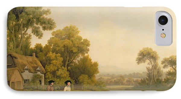 Two Gentlemen Going A Shooting Phone Case by George Stubbs