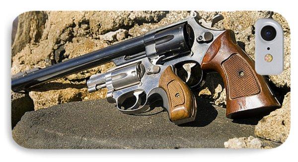 Two Hand Guns Phone Case by Susan Leggett