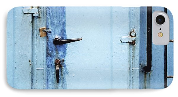 Two Handles And A Padlock IPhone Case by Agnieszka Kubica
