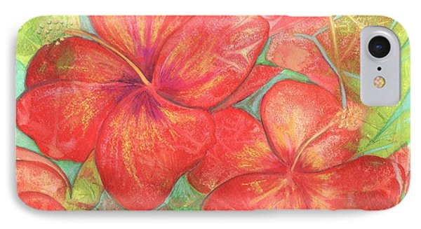 IPhone Case featuring the painting Two Hibiscus Blossoms by Carla Parris
