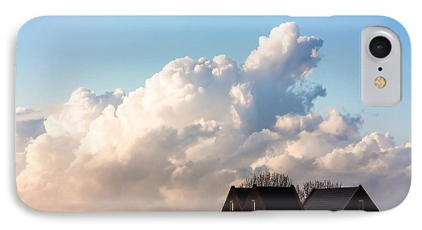 Two Houses One Cloud Phone Case by Semmick Photo