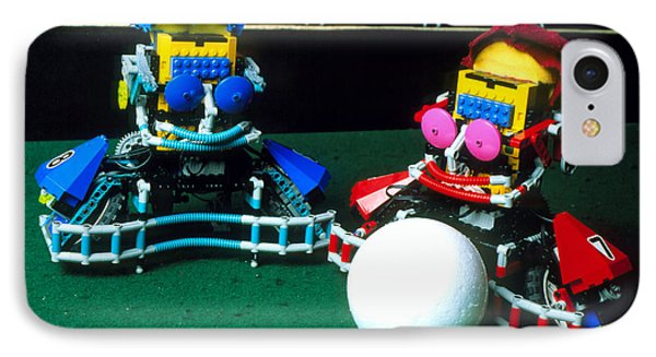 Two Lego Footballers With A Ball At Robocup-98 Phone Case by Volker Steger
