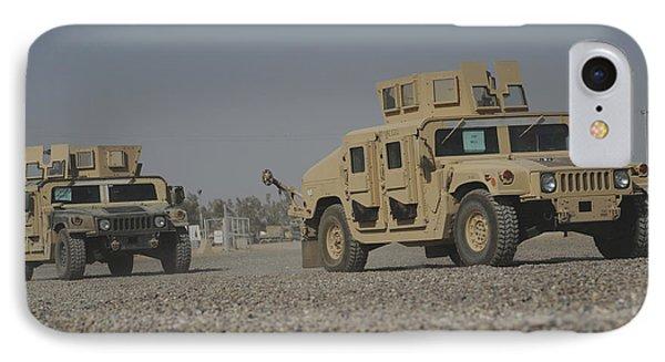 Two M1114 Humvee Vehicles At Camp Taji IPhone Case