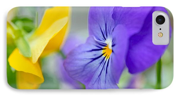 Two Pansies Ln Love IPhone Case by Luana K Perez