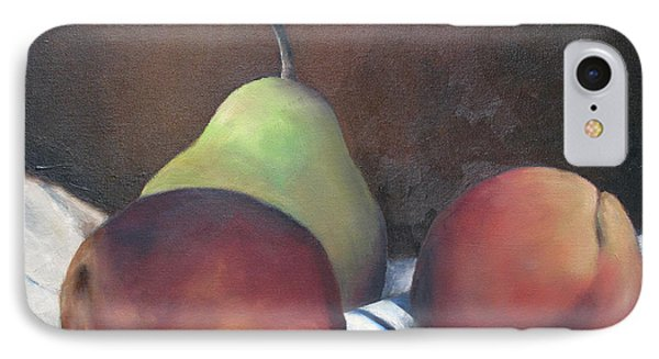Two Peaches And A Pear Phone Case by Julie Dalton Gourgues
