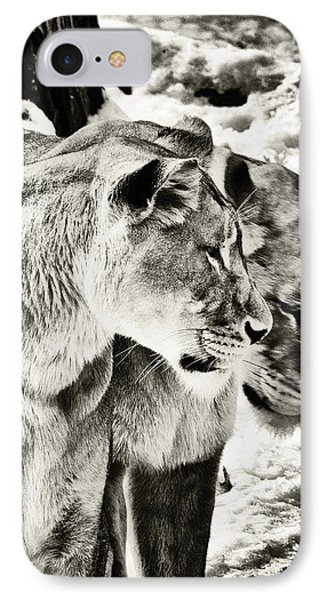 IPhone Case featuring the photograph Two Sisters by Perla Copernik
