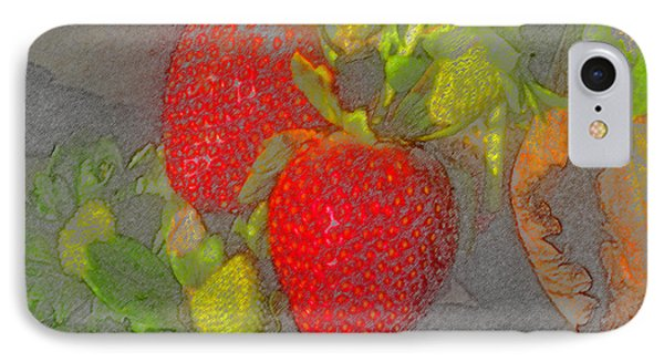 Two Strawberries Phone Case by David Lee Thompson