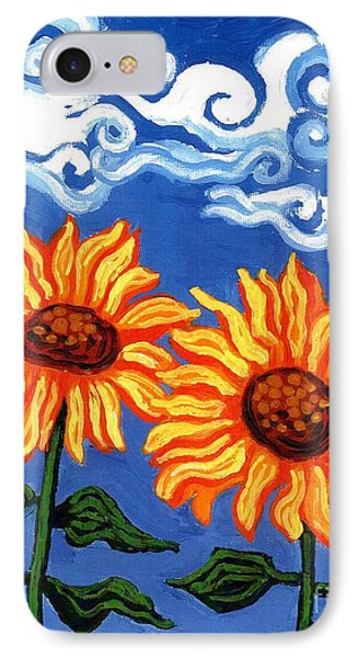 Two Sunflowers Phone Case by Genevieve Esson
