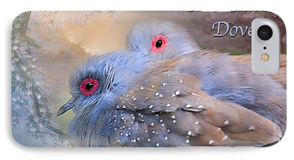 Two Turtle Doves Card Phone Case by Carol Cavalaris