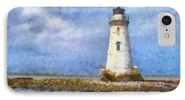 IPhone Case featuring the painting Tybee Island Lighthouse by Lynne Jenkins