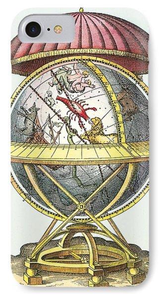 Tycho's Great Brass Globe Phone Case by Detlev Van Ravenswaay