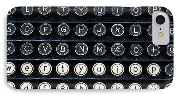Typewriter Keyboard Phone Case by Hakon Soreide