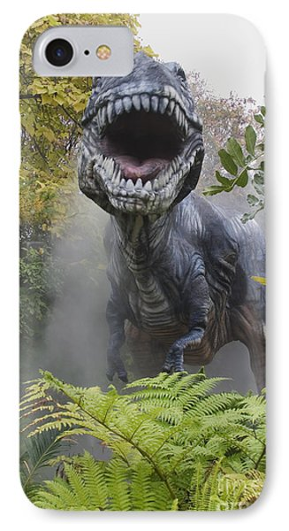 Tyrannosaurus Phone Case by David Davis and Photo Researchers