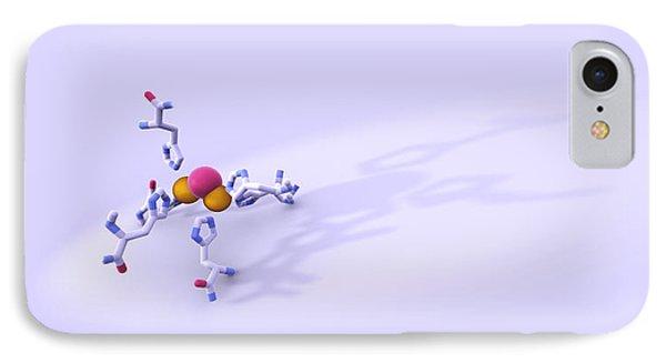 Tyrosinase Molecule Phone Case by Phantatomix