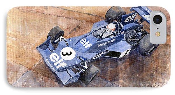Tyrrell Ford 007 Jody Scheckter 1974 Swedish Gp Phone Case by Yuriy  Shevchuk