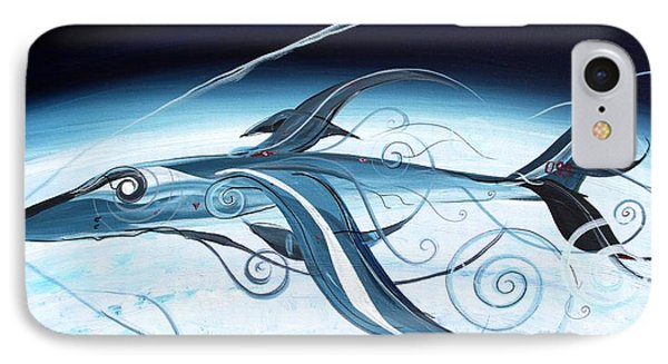 U2 Spyfish - Spy Plane As Abstract Fish - IPhone Case