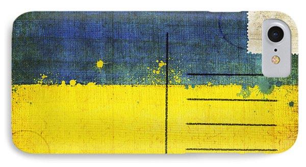 Ukraine Flag Postcard Phone Case by Setsiri Silapasuwanchai