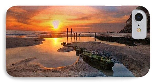 iPhone 7 Case - Ultra Low Tide Sunset At A North San by Larry Marshall