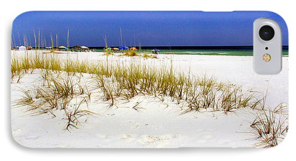 Umbrellas On The Beach Phone Case by Judi Bagwell