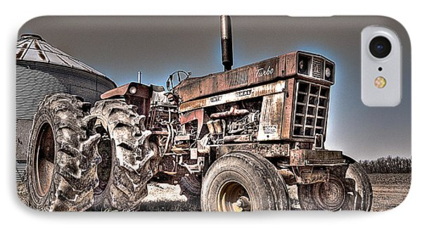 Uncle Carly's Tractor IPhone Case by William Fields