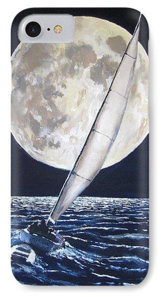 Under Full Sail..under Full Moon Phone Case by Jack Skinner