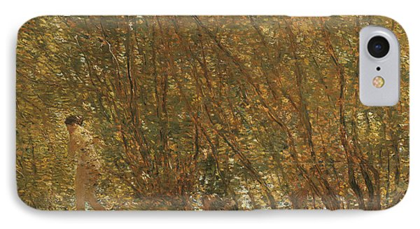 Under The Alders Phone Case by Childe Hassam