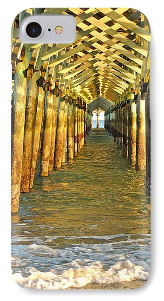 IPhone Case featuring the photograph Under The Boardwalk by Eve Spring