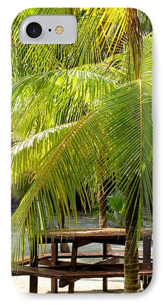 Under The Palm Tree IPhone Case