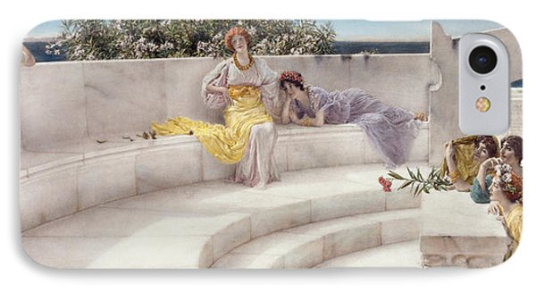 Under The Roof Of Blue Ionian Weather Phone Case by Sir Lawrence Alma-Tadema