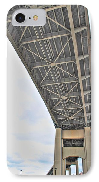 IPhone Case featuring the photograph Under The Skyway by Michael Frank Jr