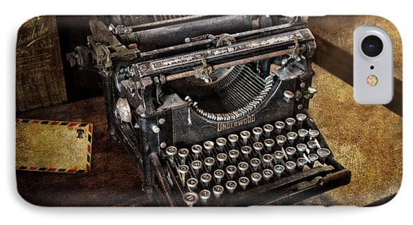 Underwood Typewriter Phone Case by Susan Candelario