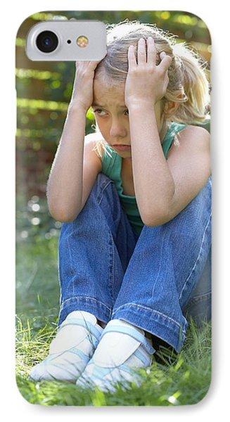 Unhappy Girl Phone Case by Ian Boddy