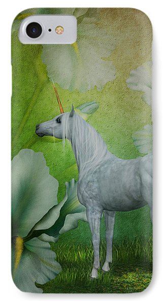 Unicorn And Lilies Phone Case by Smilin Eyes  Treasures