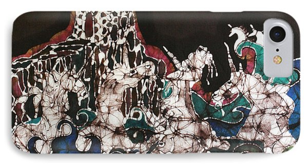 Unicorn In Sea Below Castle Phone Case by Carol Law Conklin