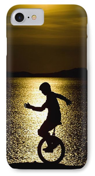Unicycling Silhouette Phone Case by Deddeda