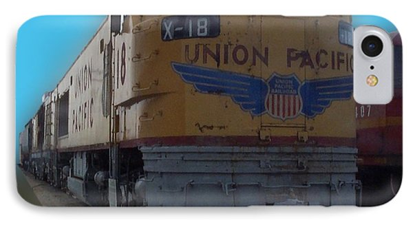 Union Pacific X 18 Train Phone Case by Thomas Woolworth