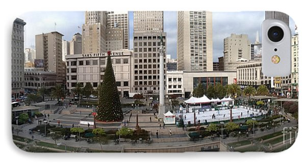Union Square Sf Phone Case by Ron Bissett