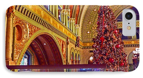 IPhone Case featuring the photograph Union Station Christmas by William Fields