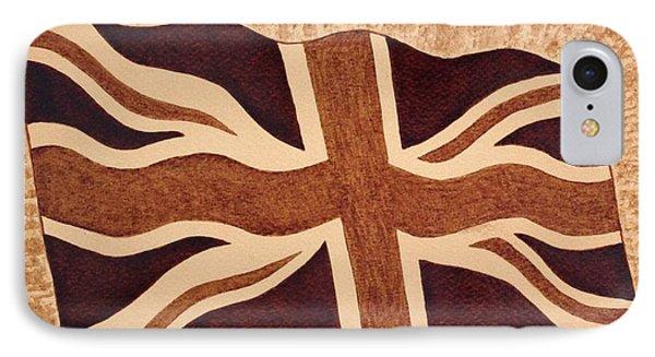 United Kingdom Flag Coffee Painting Phone Case by Georgeta  Blanaru
