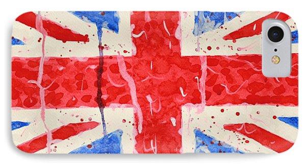 United Kingdom Flag Watercolor Painting Phone Case by Georgeta  Blanaru