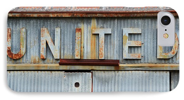 United Rusted Metal Sign IPhone Case by Nikki Marie Smith